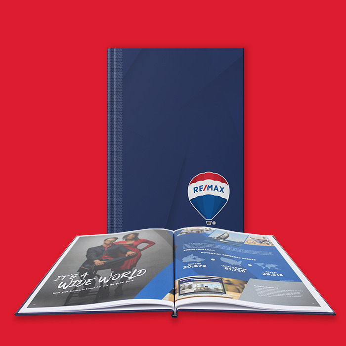 Lay-Flat Hardcover Book Remax Blue Design